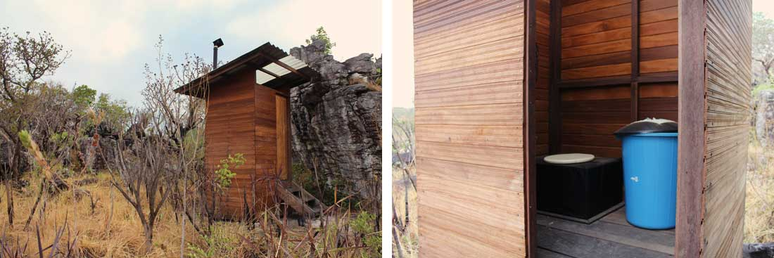 Banheiro Seco da Travessia Sete Quedas