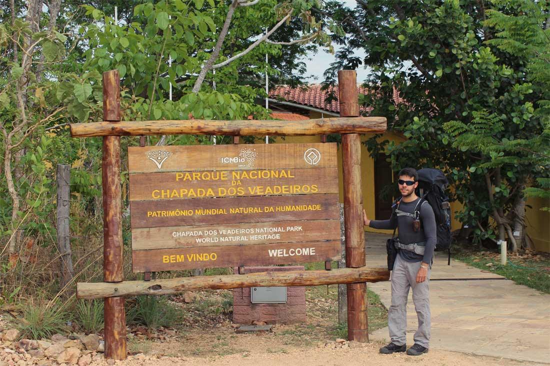 Entrada do Parque Nacional da Chapada dos Veadeiros